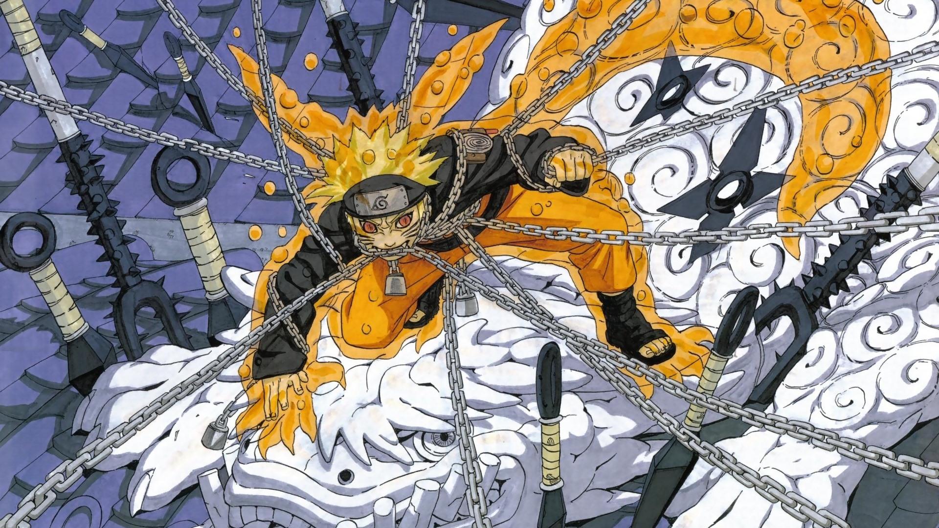 火影壁纸火影忍者鸣人与九尾高清壁纸