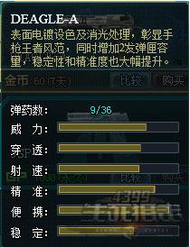 生死狙击副武器DEAGLE-A属性介绍