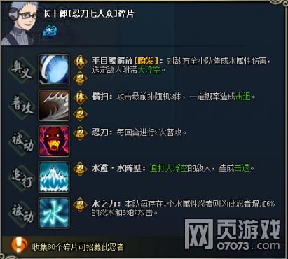 火影忍者OL长十郎忍刀七人众图鉴属性
