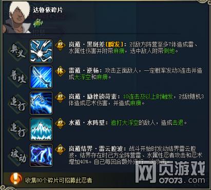 火影忍者OL达鲁依图鉴属性资料