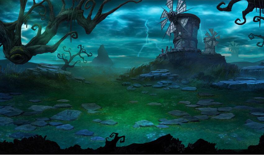 《血战刀塔》场景原画