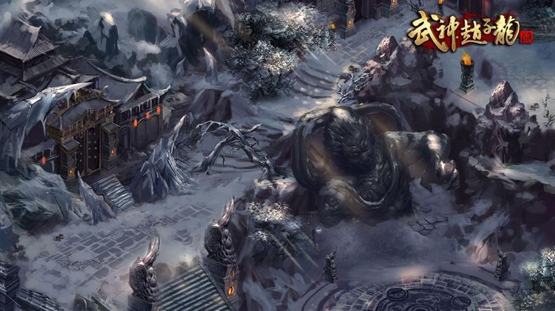 武神赵子龙昆仑雪域场景截图