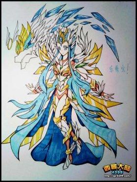 西普大陆手绘 自创星羽之女・温丽