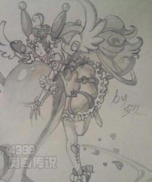 奥奇传说手绘圣洁之梦爱心