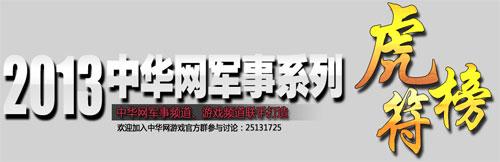 中华网2013年军事系列虎符榜评选火热开启!