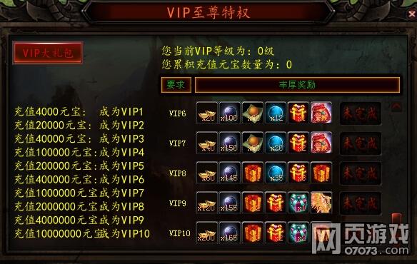 天轨传奇游戏VIP介绍