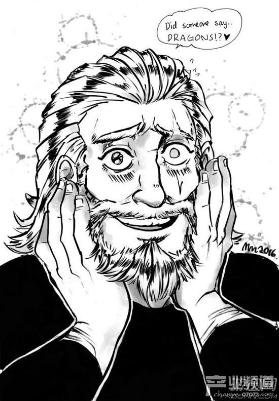 《守望先锋》国外画师速写插画赏 众英雄秒变资深腐宅!