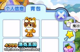 洛克王国小虎崽装扮