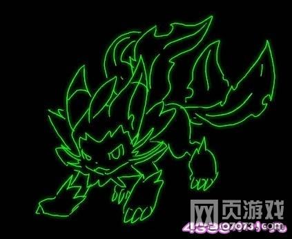 洛克王国武斗酷猫荧光鼠绘-4399小小凡
