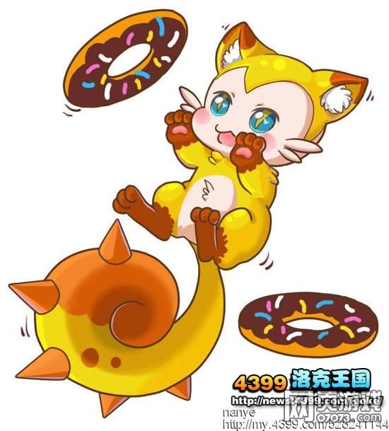 洛克王国嬉戏中的幻灵猫 洛克王国幻灵猫板绘 4399小皇作品