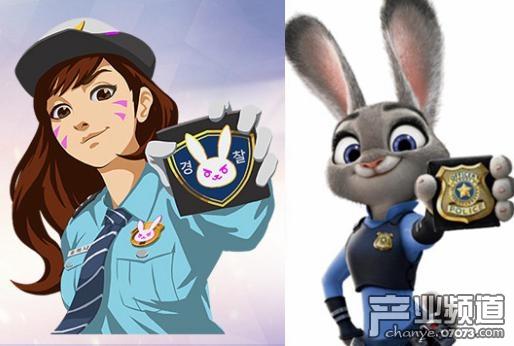 小�9�(9�d_《守望先锋》dva小女警皮肤原型是兔朱迪?