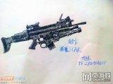生死狙击玩家手绘-自创猎魔SCAR