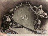 生死狙击玩家手绘-英雄和母体的决战