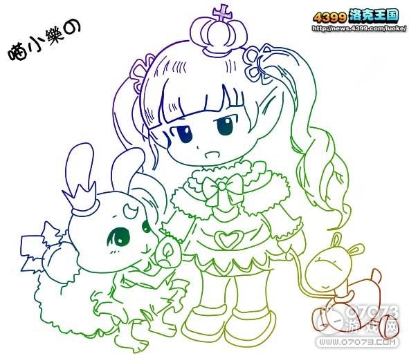 洛克王国我爱兔兔鼠绘_玩家手绘_07073玩家手绘网页