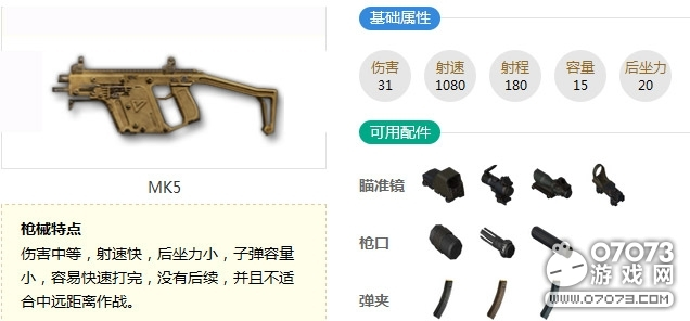 生死狙击MK5枪械解析