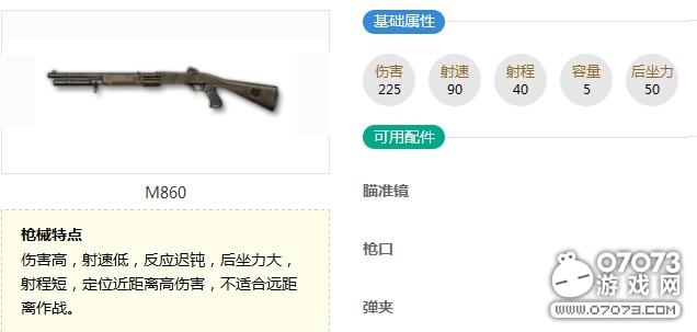 荒野行动M860武器介绍