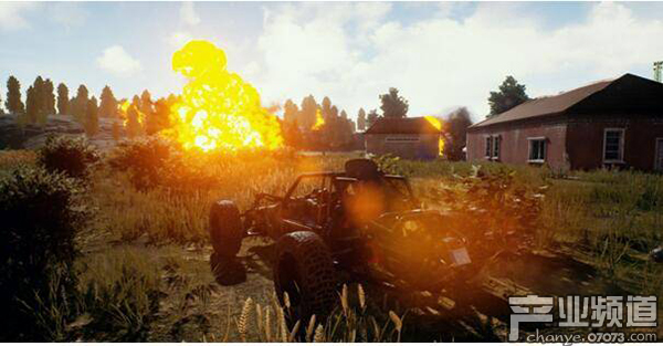 正版《绝地求生》游戏内实景画面