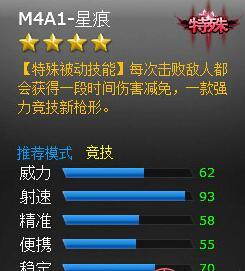 火线精英M4A1属性解析 星痕竞技神器