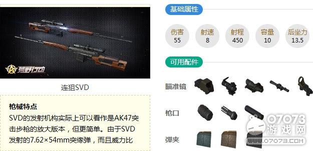 荒野行动连狙SVD最新武器解析
