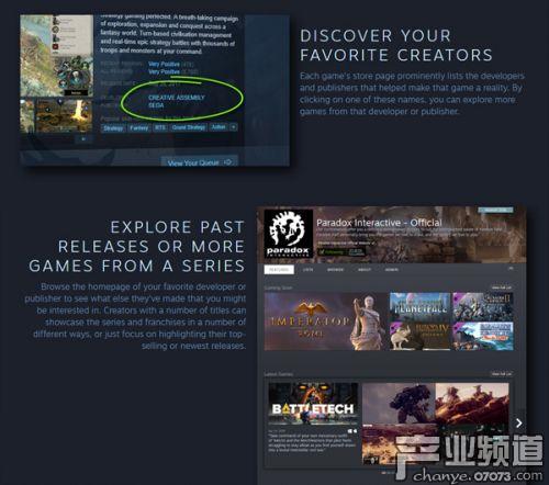 Steam推信息整合新功能 340家游戏公司参加测试