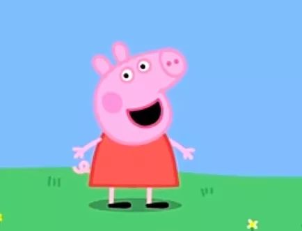▲小猪佩奇。 图片来源:《小猪佩奇》动画片截图
