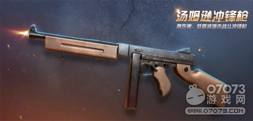 荒野行动AR18步枪 汤姆逊冲锋枪