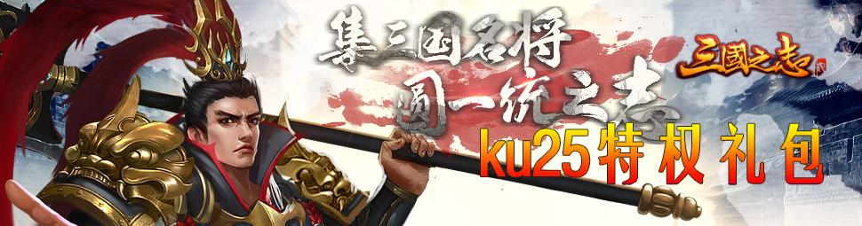 KU25《三国之志2》07073特权礼包