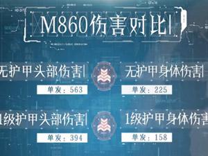荒野行动M860数据评测 无视防御人间大炮